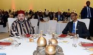 الرئيس الرواندي يقيم مأدبة غذاء رسمية على شرف جلالة الملك