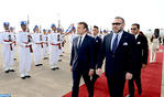 French President Emmanuel Macron Arrives in Morocco