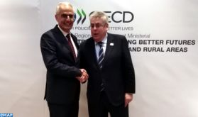 Série d'entretiens de M. Fassi Fihri à Athènes avec plusieurs chefs de délégations participant à la réunion ministérielle de l'OCDE