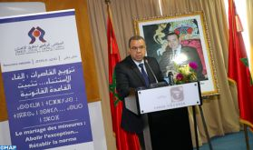 M. Benyoub: L'abolition du mariage des mineures passe par la lutte contre certaines croyances sociales