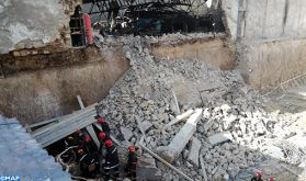 Casablanca: Opération en cours pour sortir deux ouvriers ensevelis sous les décombres