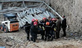 Effondrement du mur d'une usine abandonnée à Casablanca : deux ouvriers sous les décombres