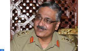 Le Général de Corps d'Armée, Inspecteur Général des FAR, reçoit le Général Zubair Mahmood Hayat, président du Comité Interarmées des Chefs d'États-Majors de l'Armée pakistanaise