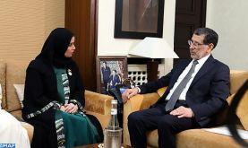 La présidente du Conseil national fédéral émirati réitère le soutien de son pays à l'intégrité territoriale du Royaume